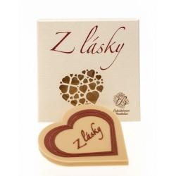 18g White Chocolate Heart